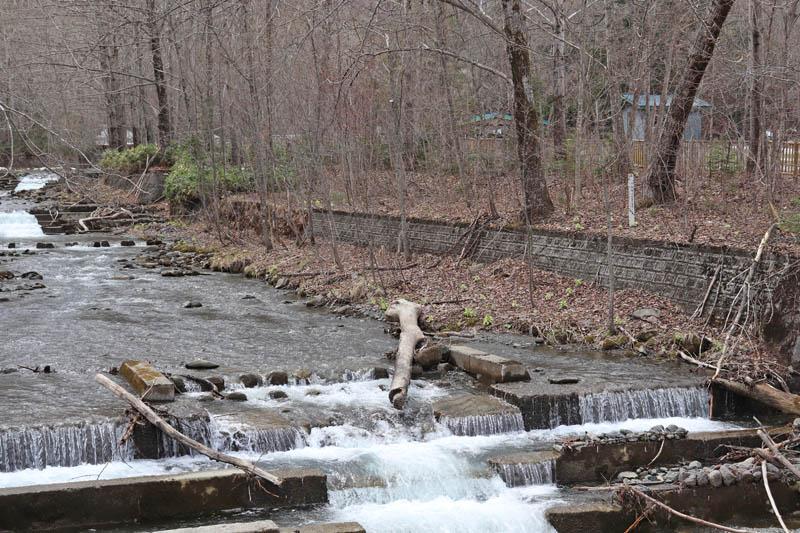 流れの急な川